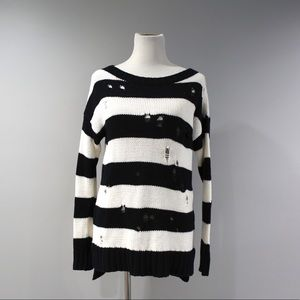 Express Sweater Womens Size Small S Black White